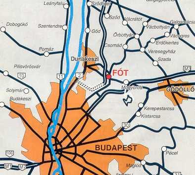fót térkép Útbaigazítás fót térkép